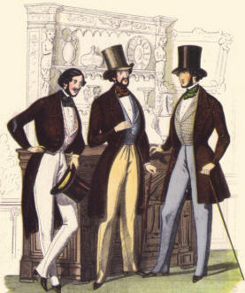 mens fashions in the 1840s